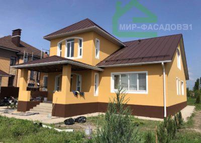 Качественный, утепленный фасад дома в городе Белгород, улица Широкая
